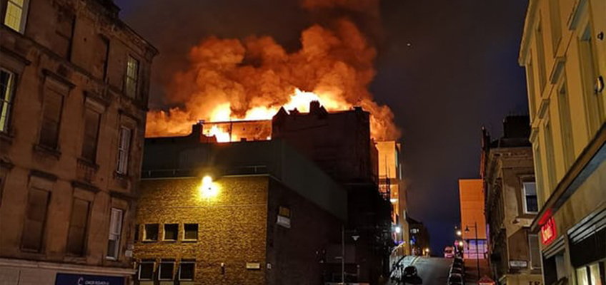 fire guts Glasgow School of Art for second time